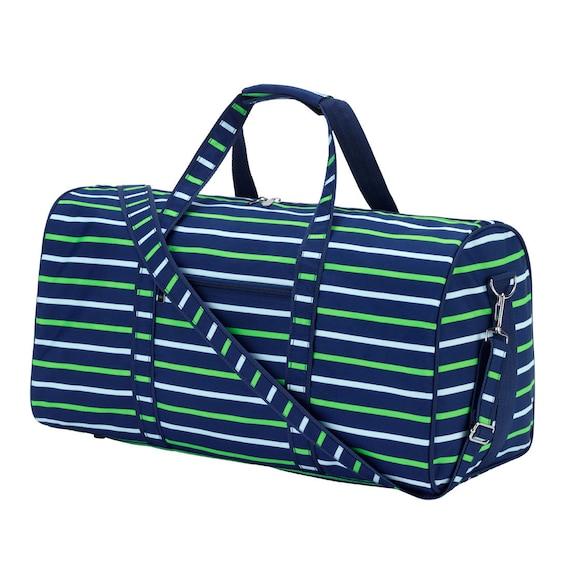 nay shoreline embroidered  Duffel bag luggage overnight bag monogram bag girls  boys sleepover luggage  bag Duffel bag