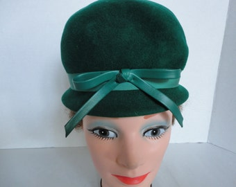 Vintage Green Wool Hat
