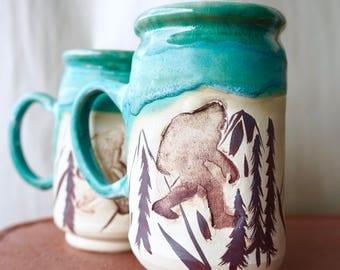 Large Bigfoot/Sasquatch mug!