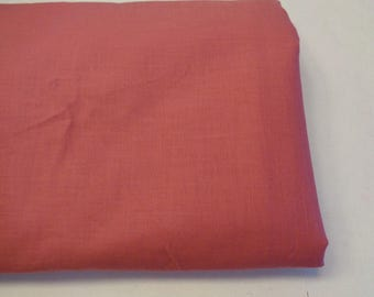 Solid Pink Dusty Rose Cotton Fabric 4-1/2 Yards