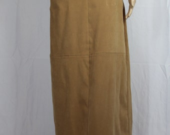 Tan white stag long skirt