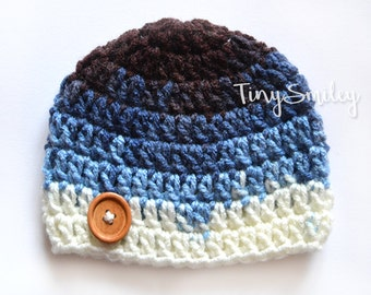 Blue Baby Hat, Newborn Hat, Crochet Baby Boy Hat, Baby Boy Hat, Hospital Hats, Baby Outfits, Take Home Outfits, Baby Boy Outfits, Newborns