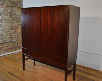 Danish High Sideboard in Mahogany attributed to Ole Wanscher