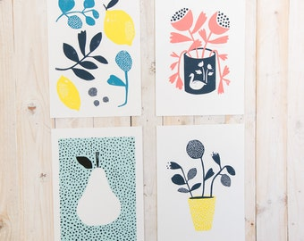 Print collection x4 ~ A4 prints unframed