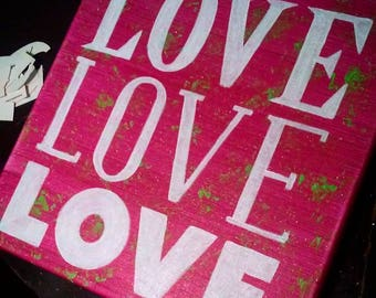"Quotes on Canvas - ""Love"""