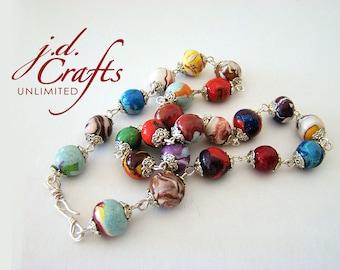 Clay Necklaces, Bead Necklaces, Beaded Necklaces, Chained Necklaces, Handmade Necklaces, Silver Necklaces, Hand Chained Necklaces