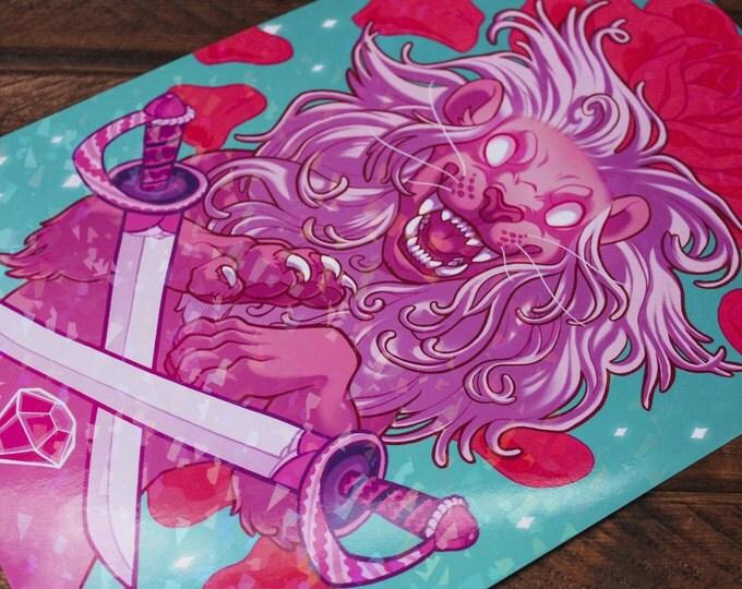 Sparkle Steven's Lion A4 Print