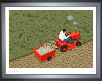 Forest mower, signed limited edition print