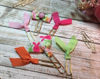 Colorful Bunnies - Set of 3 Planner Clips / Bookmarks