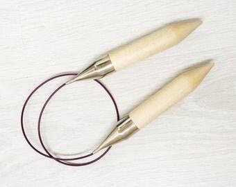 Giant Knitting Needles, 25 mm, Knit Pro Extreme Knitting Needles, Circular Needles, Wooden Needles, Big Circular Needles
