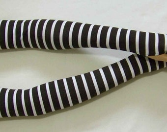 Cotton,Knit,Jersey,Stripes Black and White,Very Long,Fingerless Gloves,Boho,Punk,Yoga,Cycling, Arm Warmers with Thumb Holes. IDEAL for HER
