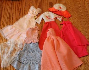 Vintage Barbie doll dresses lot