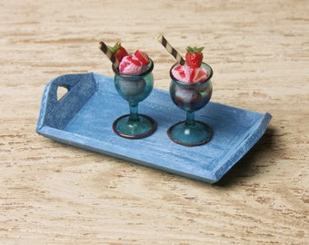 Miniature Wooden Tray for Your Dollhouse