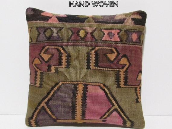 Modern Embroidered Throw Pillow : embroidered pillow 18x18 modern throw pillow sofa bohemian