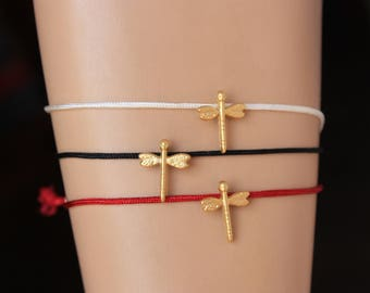 Friendship  Bracelets, 6 Colors Adjustable Bracelets, Dragonfly  Bracelets