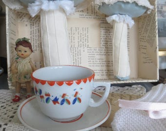 Antique German doll cup