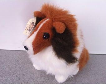 Gund Lassie Dog Sitting Collie Plush Stuffed Animals Toy 1989