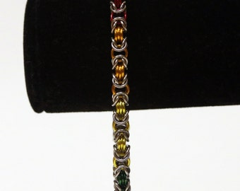 Pride Collection - Rainbow Pride Byzantine Bracelet