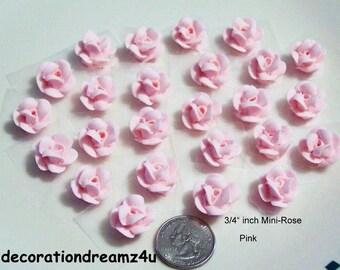 25 Edible Rose, Edible Flower, Edible Topper, Edible Decoration, Royal  Icing Flower, Cake Topper, Edible Sugar Flower, Wedding Flowers