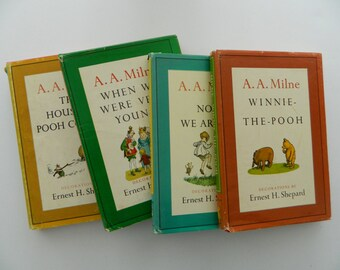 Set of Vintage Winnie the Pooh Books.