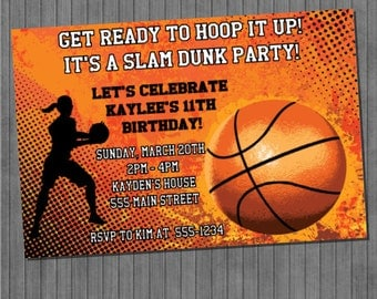 ON SALE!!  Girls Basketball Invitation
