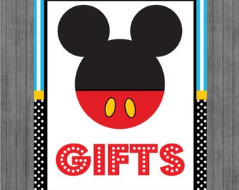 ON SALE!!  Mouse Birthday Sign, Gift Sign
