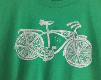 Bicycle short sleeve green tshirt