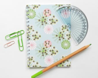 A6 Spiral Bound Geometric Notebook