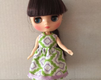Middie Blythe dress green and lavendar