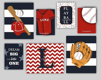 Baseball Art. Baseball Nursery. Baseball Decor. Baseball Wall Art. Baseball Jersey Art. Sports Nursery Art. Dream Big. Choose Colors BB2204