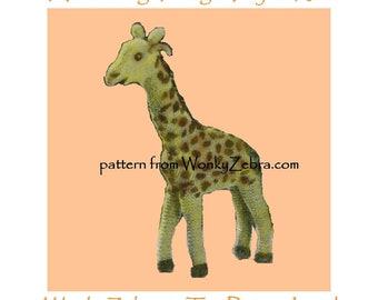 Knitted Giraffe Pattern PDF 503 from ToyPatternLand by WonkyZebra and ToyPatternLand