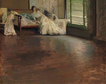 """Edmund Charles Tarbell : """"Across the Room"""" (c. 1899) - Giclee Fine Art Print"""