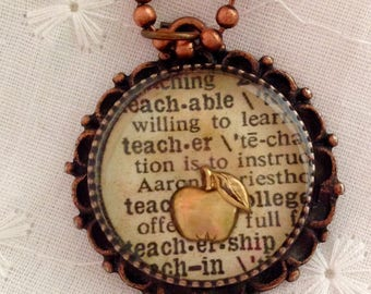 Custom Pendant Teacher Pendant Resin Jewelry Christmas Gift End of School Year Gift