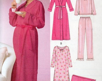 McCall's Easy Endless Options Pattern 4720 NIGHTGOWN ROBE Blanket & PAJAMAS Misses Sizes Xsm Sm Med