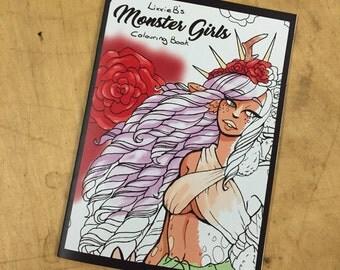 Monster Girl colouring book
