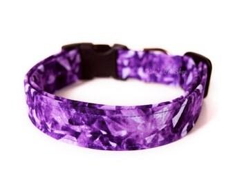 Purple Crystal Dog Collar, Amethyst Dog Collar, Designer Dog Collar, Pet Accessories, Adjustable Collar, Modern Dog Collar, Girly Dog Collar