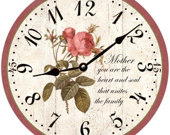 Mother's Day Gift- Mother's Day Clock- Personalized Mother's Day Wall Clock
