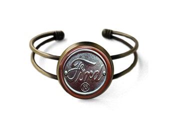 Vintage Ford Emblem Cuff Bracelet