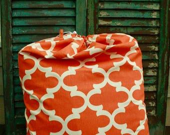 Orange Moroccan Laundry Bag