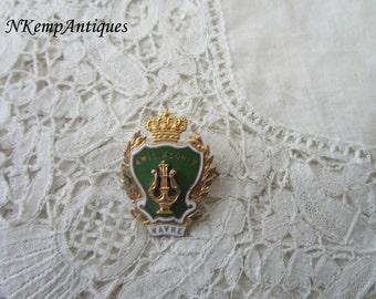 Antique enamel brooch 1910