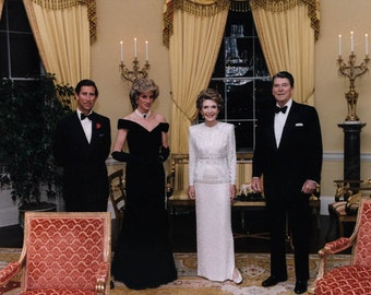 Princess Diana, Prince Charles, Ronald Reagan and Nancy Reagan Photo Print