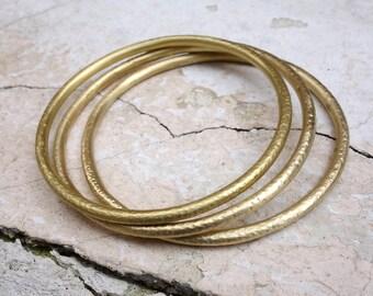 Hammered Gold Bangles Fine Jewelry Gold bangles Stacking bangles Design bangles Unique Unusual Gold Bracelet Women's Bangles Handmade