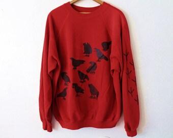 XXLARGE Vintage 1980s Birds Graphic Sweatshirt