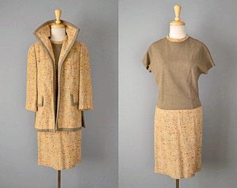 Vintage 60s Lilli Ann Suit // 1960s Tweed Suit // S