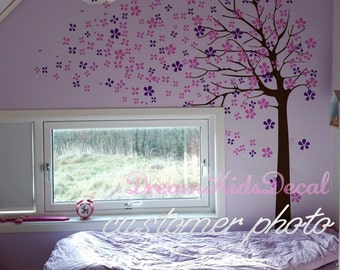 Nursery Decoration, Wall Decals for girls,  Wall Decal Tree, Baby nursery wall sticker-Cherry Blossoms Tree Decal-DK002