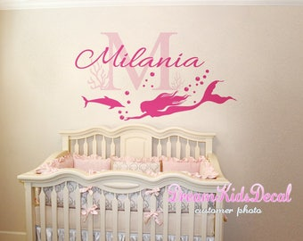 Mermaid Wall Decals   Etsy Part 44