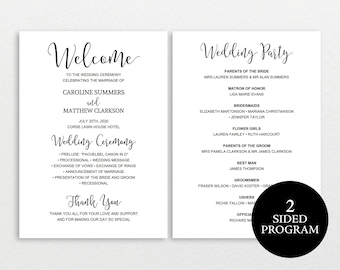 Wedding program template rustic wedding program printable wedding program template rustic wedding program ceremony program printable wedding program diy pronofoot35fo Images