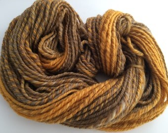 SALE: Autumnal Colors, Corriedale Cross Handspun, Aran 3 ply, approx. 100 yds