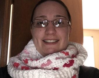 Valentines infinity scarf