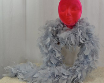 Baby Blue Feather Boa
